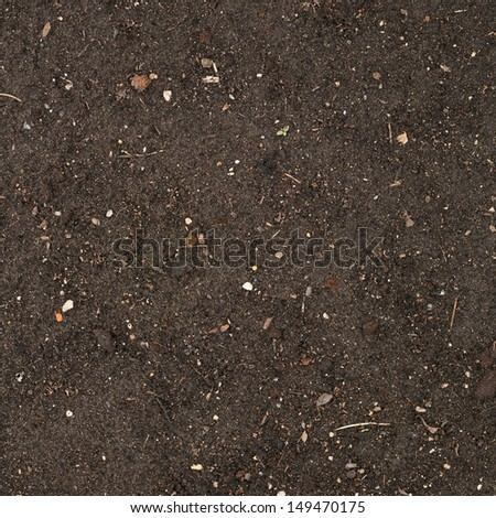 Earth texture with a small stone admixture as a background - stock photo