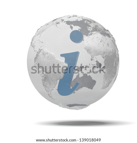 earth the information symbol - stock photo