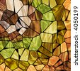 earth tone mosaic tile background - stock photo