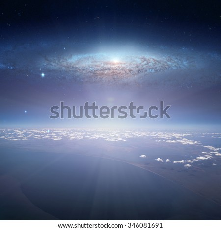 Earth. View from Airplane. Elements of this image furnished by NASA