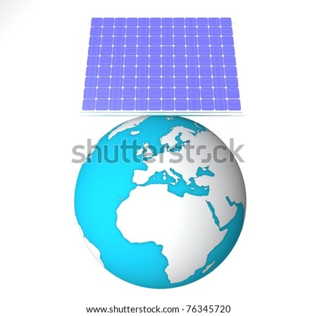 Earth which is solar battery