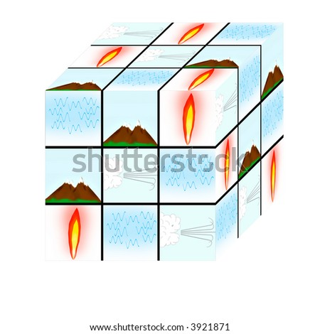 Earthwindfire water mixed cube stock illustration 3921871 shutterstock earthwindfire and water mixed up cube ccuart Choice Image