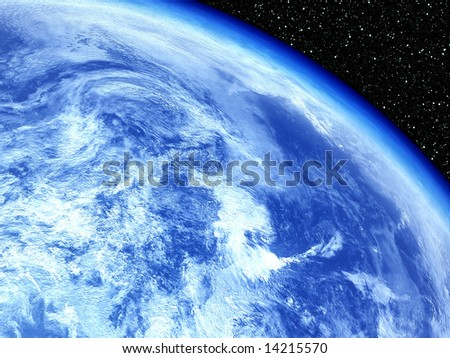 Earth with Stars backdrop
