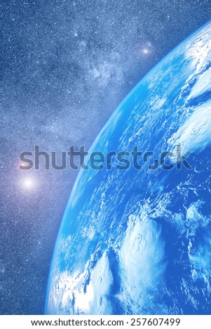 earth with stellar wonders. Elements of this image furnished by NASA. - stock photo