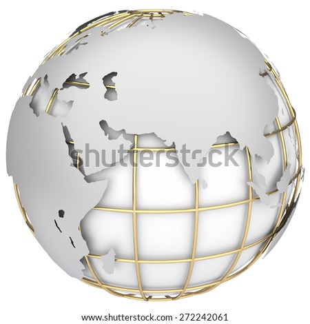 Earth world map.Africa, Europe and Azia on a planet globe - stock photo
