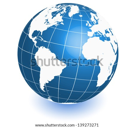 earth world map. raster copy of vector file