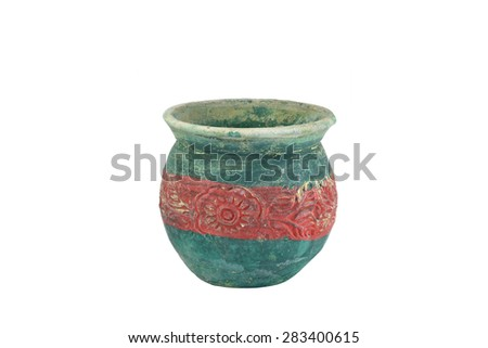 earthenware isolated on white background.