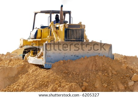 Earthmover on the site - stock photo