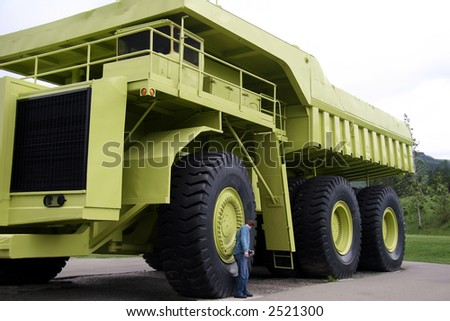 Earthmoving,industrial truck - stock photo