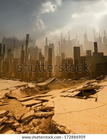 Earthquake - stock photo