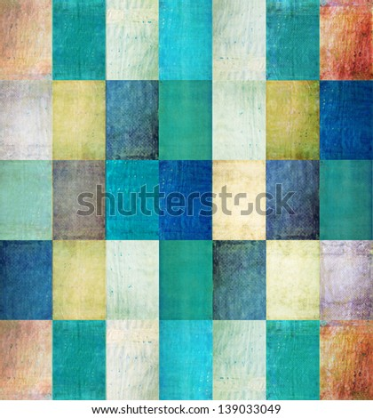 Earthy geometric background and design element - stock photo