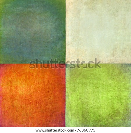 earthy squares background and design element - stock photo