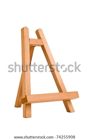 easel for artist. tripod for painting without canvas. - stock photo
