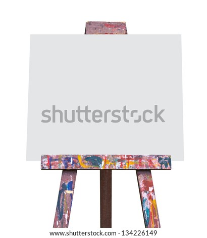 Easel isolated - stock photo