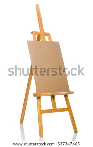 Easel isolated on the white background - stock photo