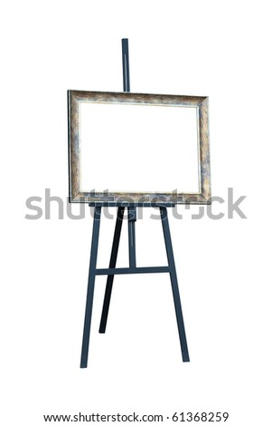 Easel. Isolated on white, with clipping path.
