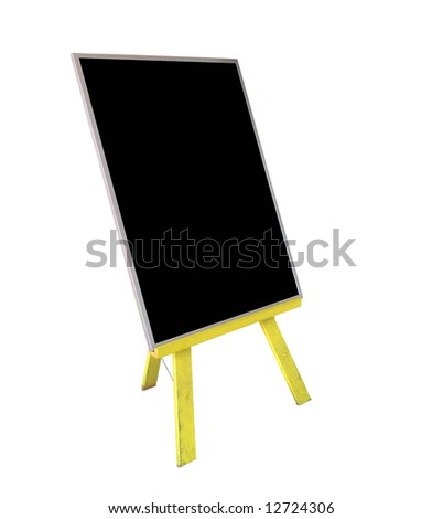 Easel Style notice board with copy space, isolated with clipping path - stock photo