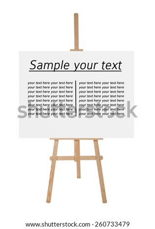 Easel with blank canvas - stock photo