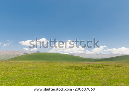 East Asia China northwest area, Qinghai Province, on the plateau of the mountains and plains