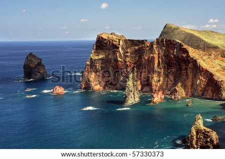 East  coast of Madeira island ? Ponta de Sao Lourenco - stock photo