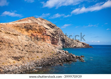 East coast of Madeira island, Portugal