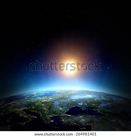 East Europe. Elements of this image furnished by NASA - stock photo