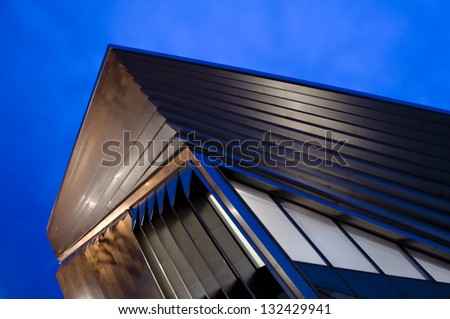 EAST LANSING, MI - MAR 10:  The Eli and Edythe Broad Art Museum on March 10th, 2013 in East Lansing, MI.  The building was designed by Pritzker Prize-winning architect Zaha Hadid. - stock photo