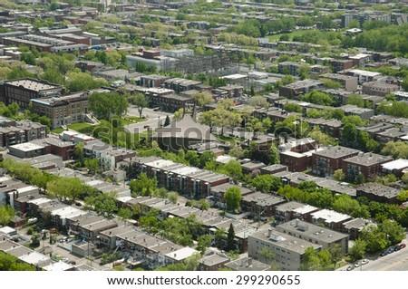 East Montreal Suburbs - Canada - stock photo