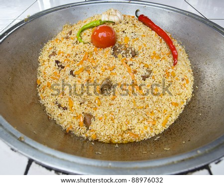 East pilaw with hot spices - stock photo