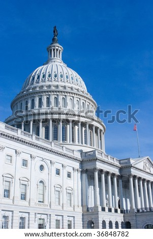 East Side of The US Capitol Building in Washington DC - stock photo