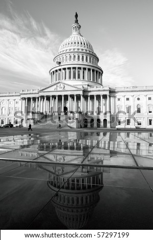 East side view of the United States Capitol, Washington, DC. - stock photo