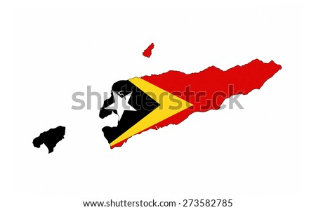 east timor country flag map shape national symbol - stock photo