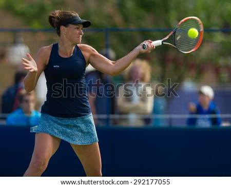 EASTBOURNE, GREAT BRITAIN - JUNE 21 : Casey Dellacqua in action at the AEGON International 2015 WTA Premier tennis tournament