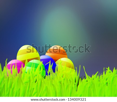 Easter Background - stock photo