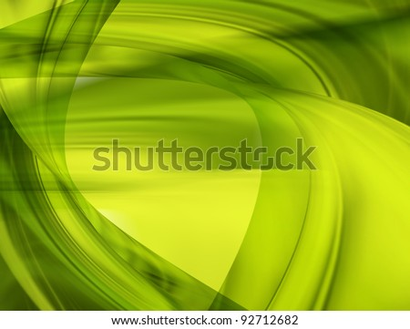 Easter background made in green and yellow colors - stock photo