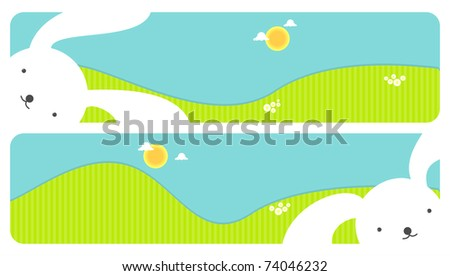 Easter banners, for vector version see image no. 69063409 - stock photo