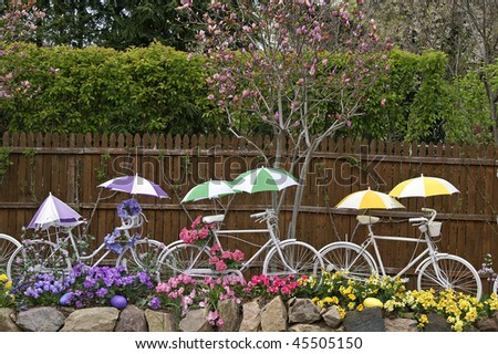 Easter Bicycles Horizontal - stock photo