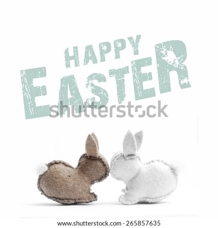 easter bunny card - stock photo