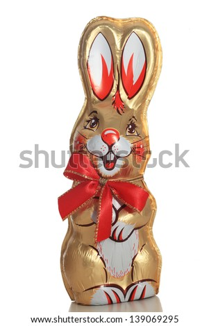 Easter bunny chocolate - stock photo