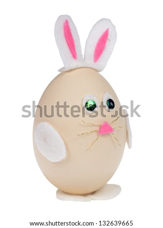 Easter bunny isolated on white with clipping path. - stock photo