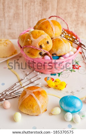 easter buns - stock photo