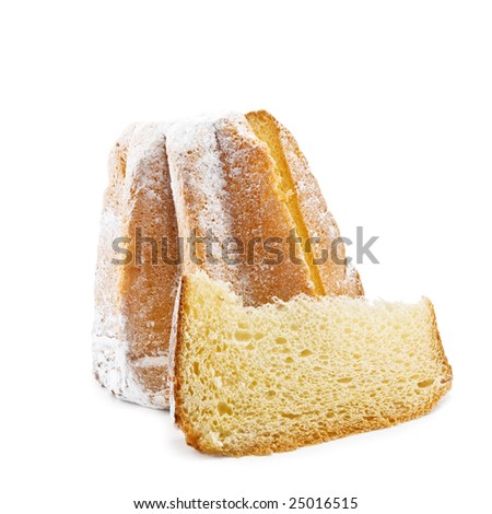 easter cake isolated on white