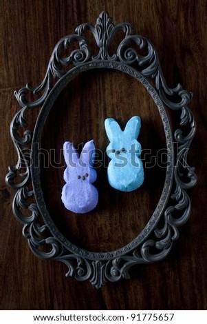 Easter Candy, Bunny Peeps - stock photo