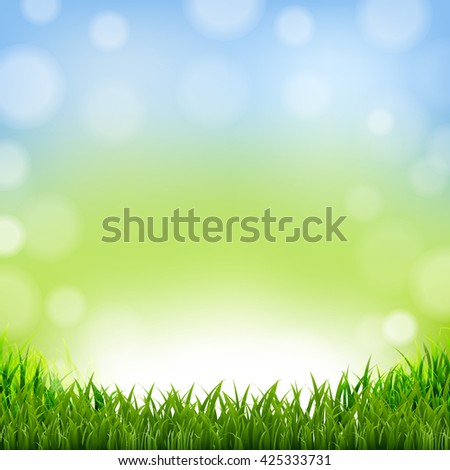 Easter Card With Grass Border