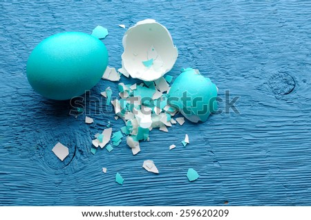 easter color eggs  with place for sample text - stock photo
