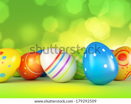 Easter colored eggs  - stock photo