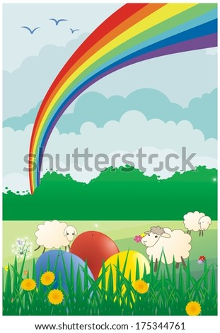 Easter colored vector background