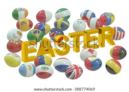 Easter concept isolated on white background
