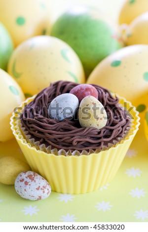Easter Cupcake - stock photo