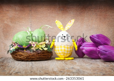 Easter decoration with tulips